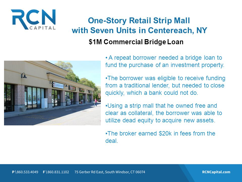 One-Story Retail Strip Mall with Seven Units in Centereach, NY