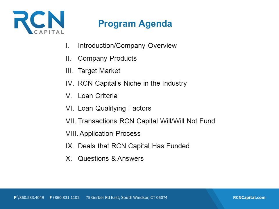 Program Agenda Introduction/Company Overview Company Products