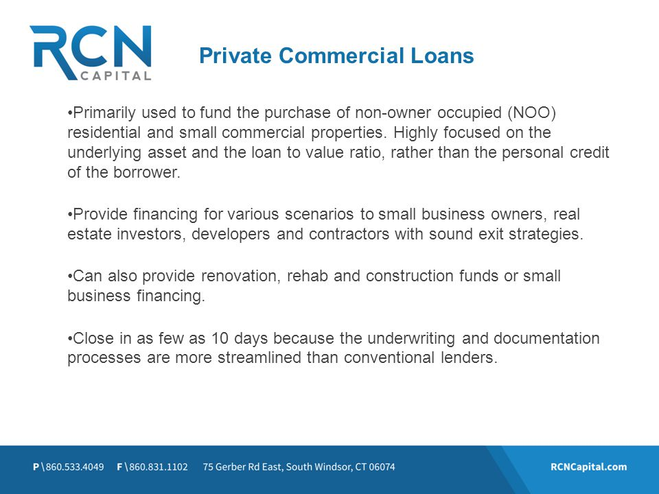 Private Commercial Loans
