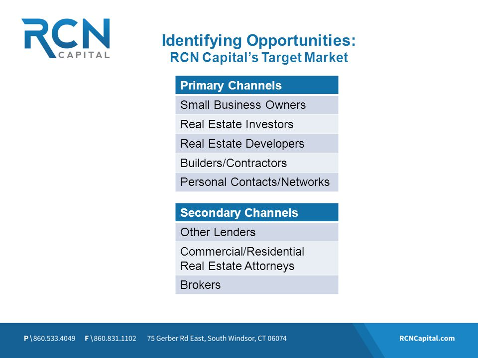 Identifying Opportunities: RCN Capital's Target Market
