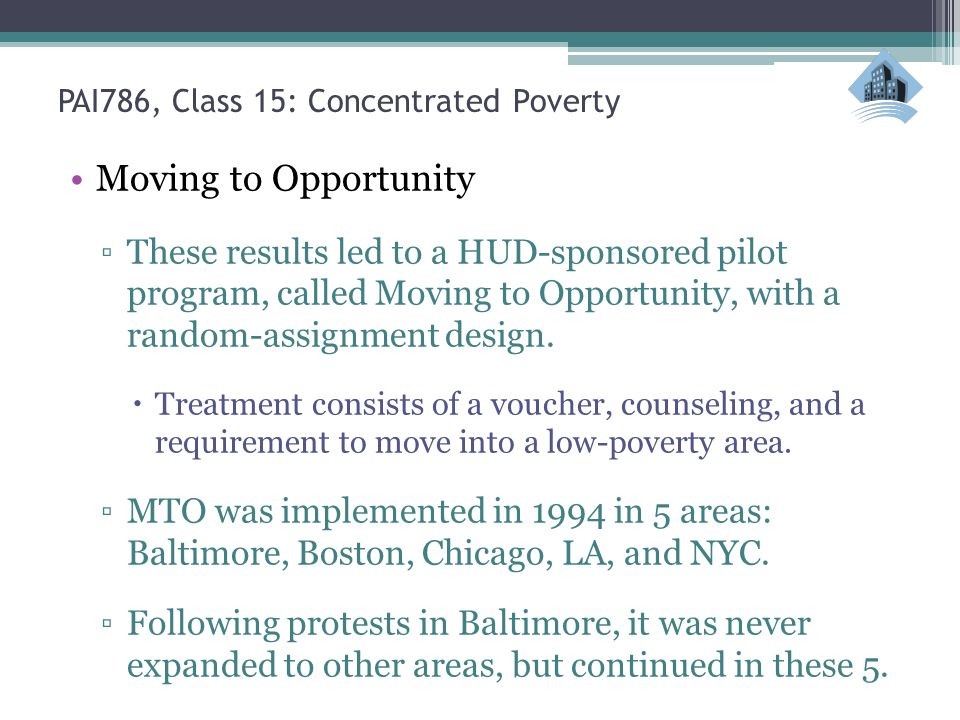 PAI786, Class 15: Concentrated Poverty