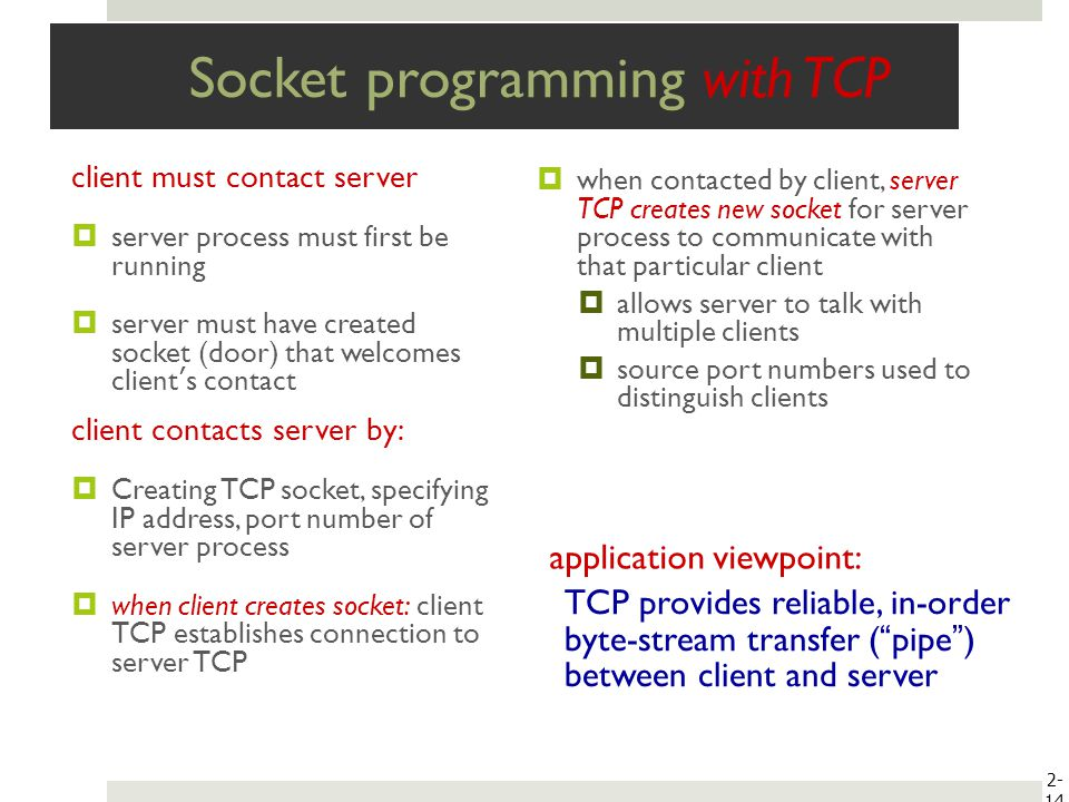 client server programming with tcp ip Example #1 socket example: simple tcp/ip server  this example shows a  simple, one-shot http client it simply  get the ip address for the target host .