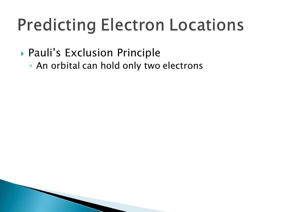 Predicting Electron Locations