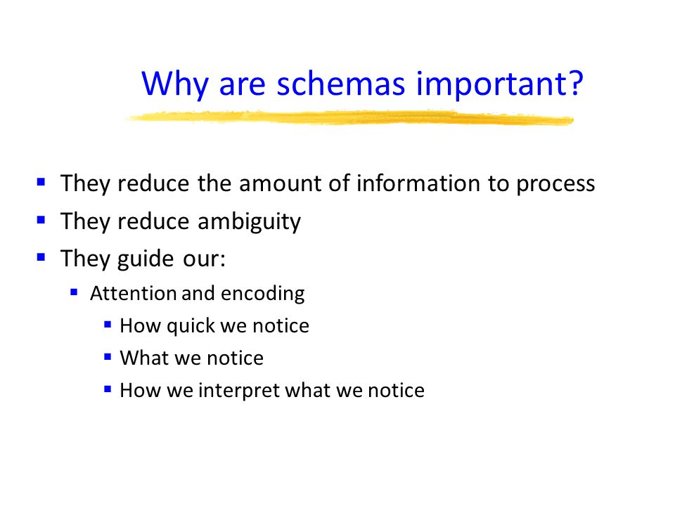 Why are schemas important