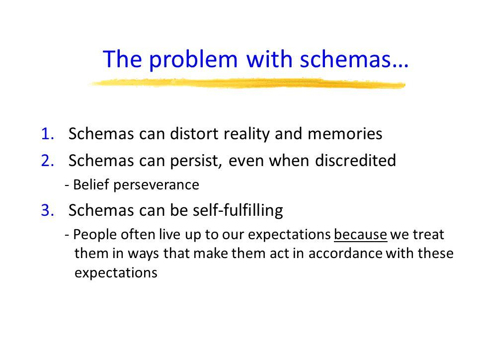 The problem with schemas…