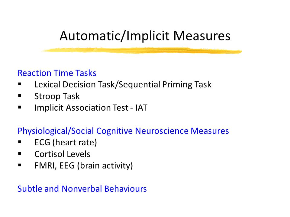 Automatic/Implicit Measures