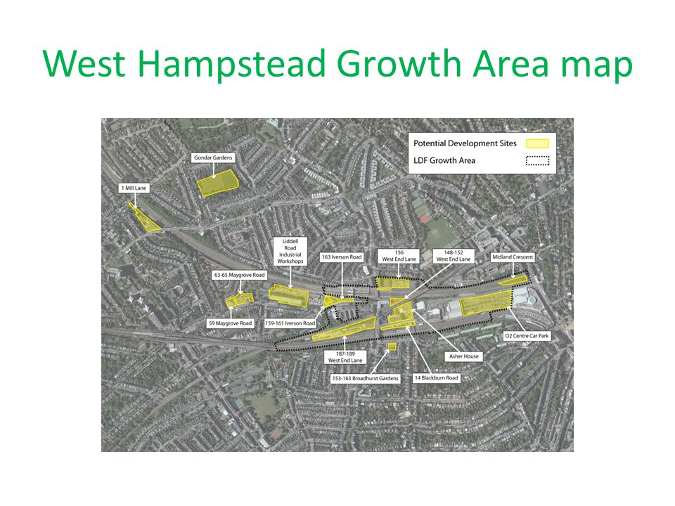 West Hampstead Growth Area map