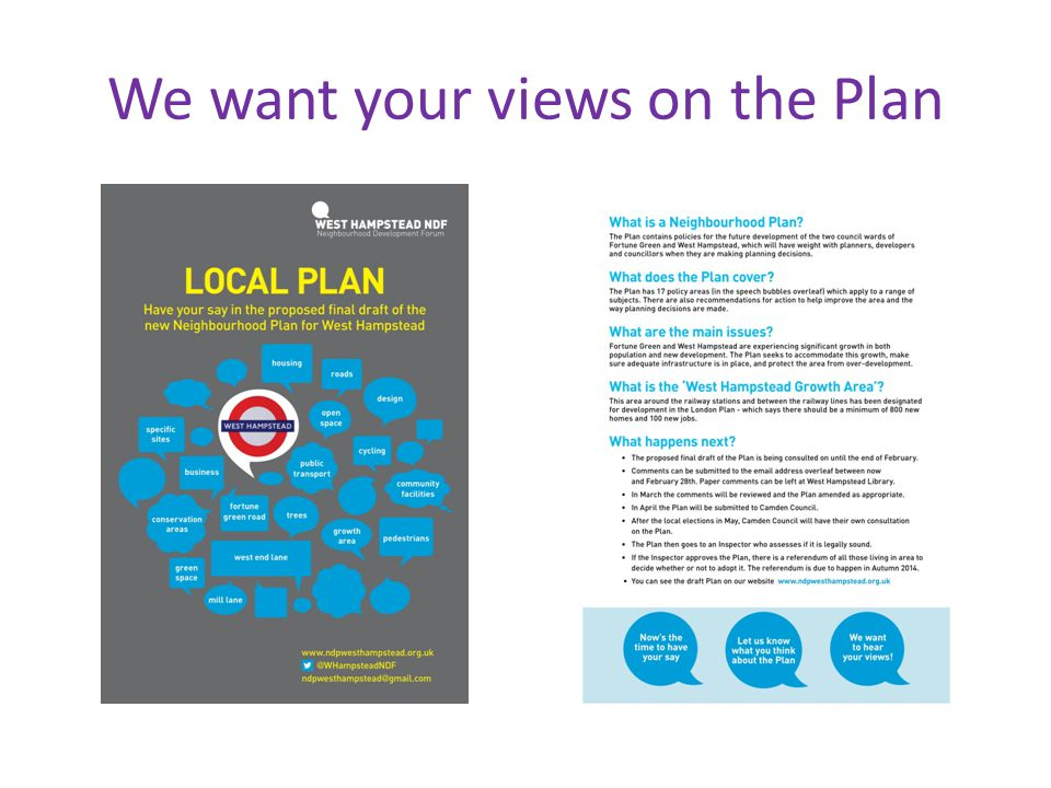 We want your views on the Plan