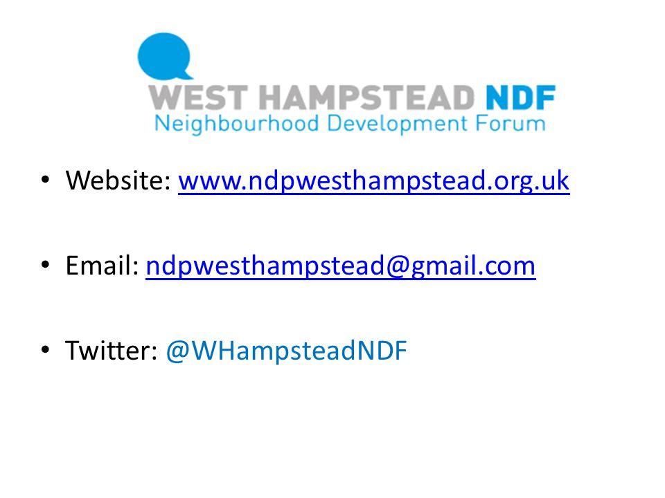 Website: www.ndpwesthampstead.org.uk