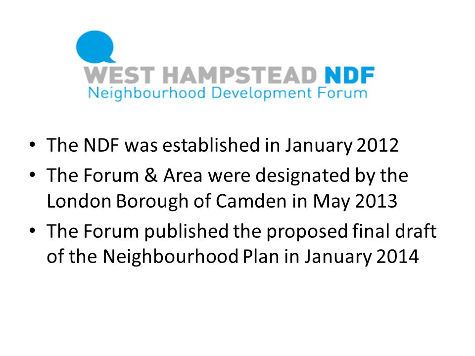The NDF was established in January 2012