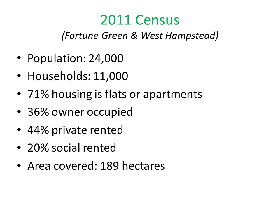 2011 Census (Fortune Green & West Hampstead)