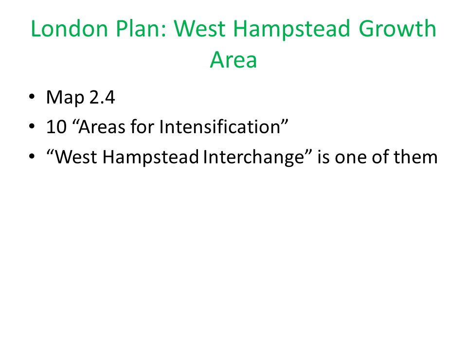 London Plan: West Hampstead Growth Area