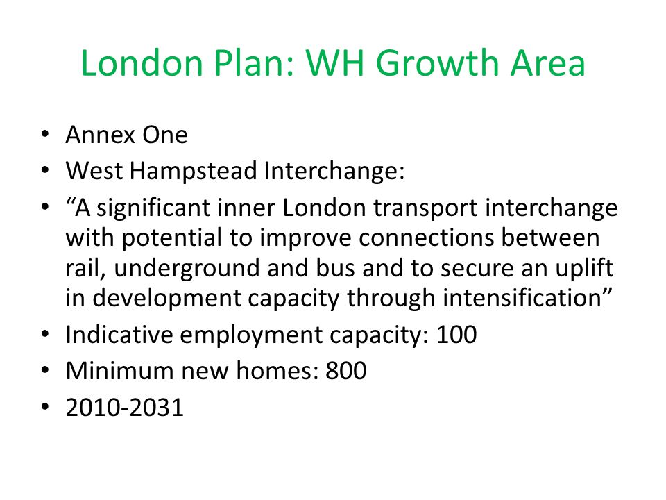 London Plan: WH Growth Area