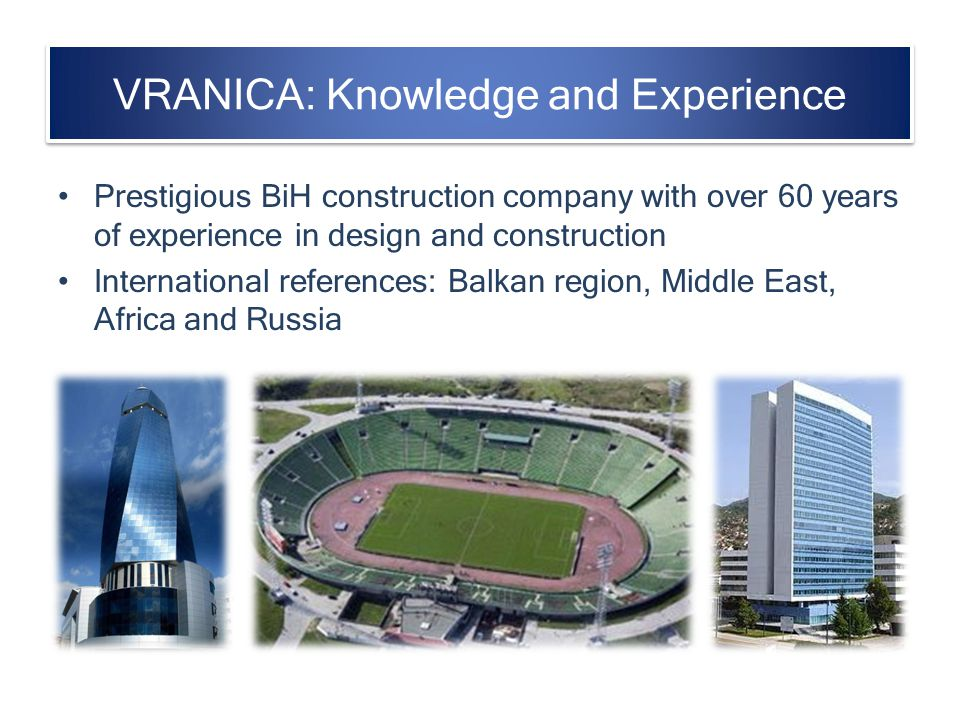 VRANICA: Knowledge and Experience