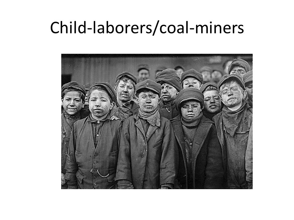 Child-laborers/coal-miners