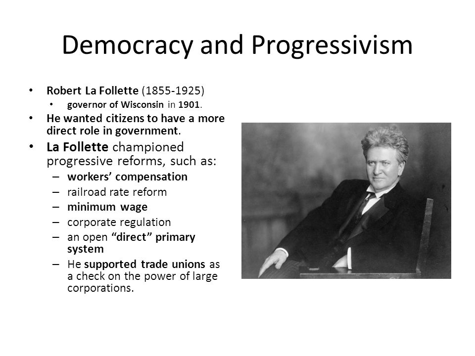 Democracy and Progressivism