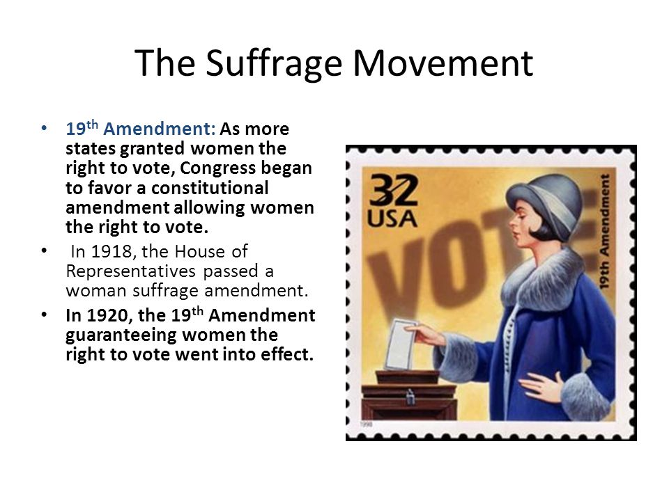 The Suffrage Movement