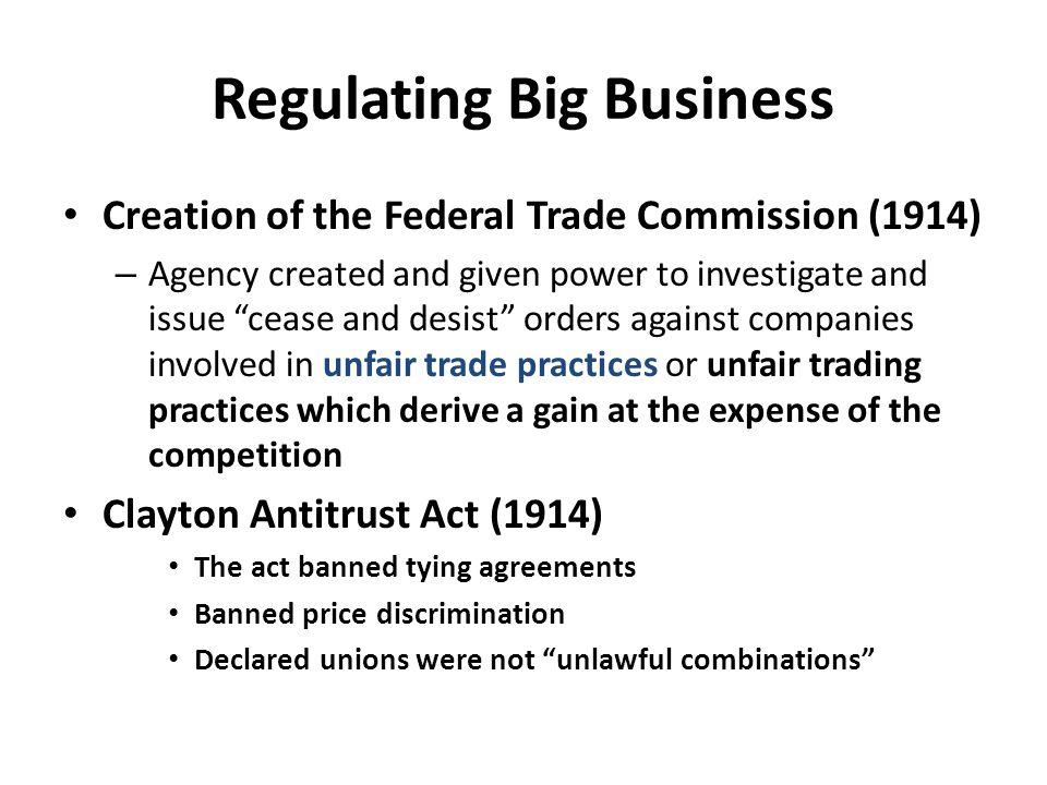 Regulating Big Business