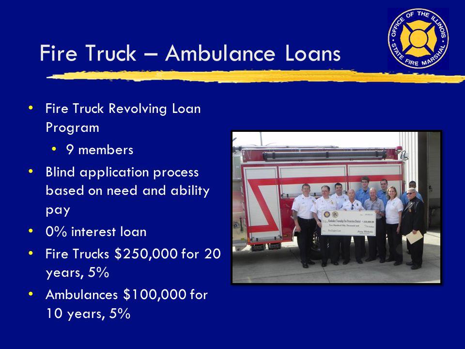 Fire Truck – Ambulance Loans