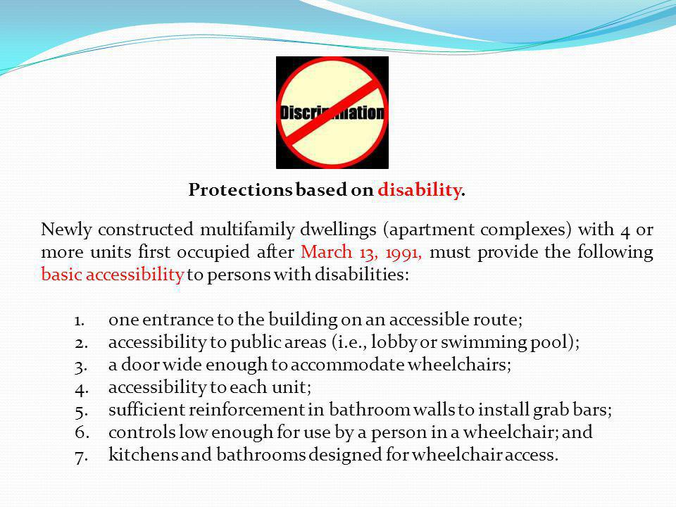 Protections based on disability.