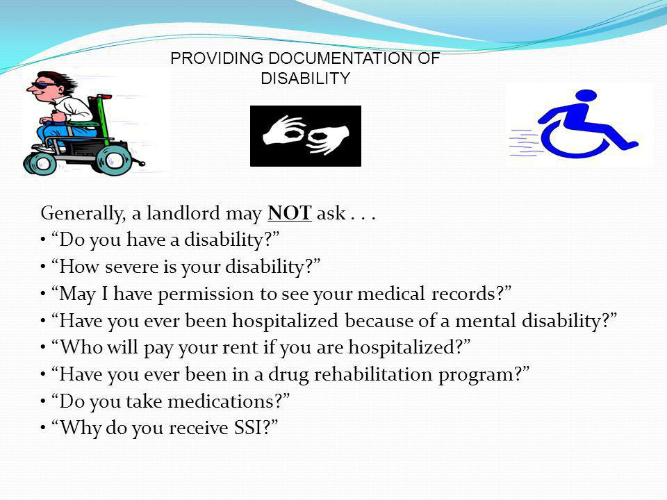 PROVIDING DOCUMENTATION OF DISABILITY