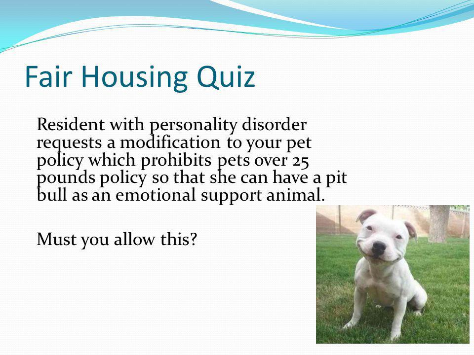Fair Housing Quiz
