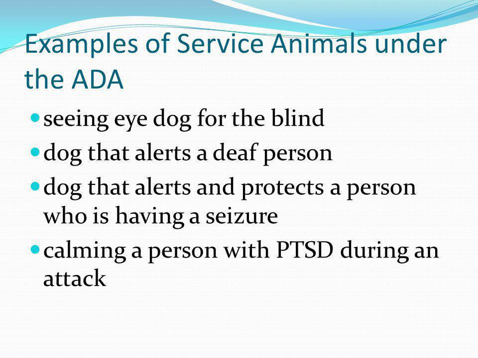 Examples of Service Animals under the ADA