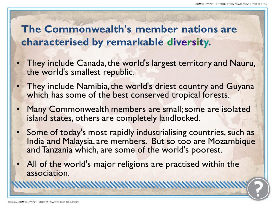COMMONWEALTH INTRODUCTION POWERPOINT | PAGE 15 OF 26