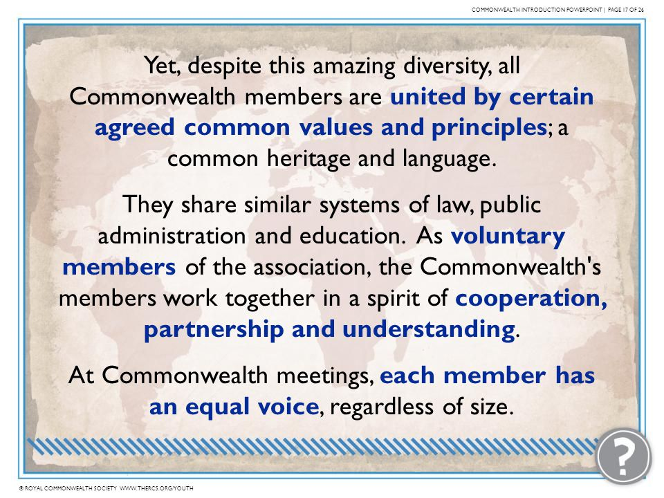 COMMONWEALTH INTRODUCTION POWERPOINT | PAGE 17 OF 26