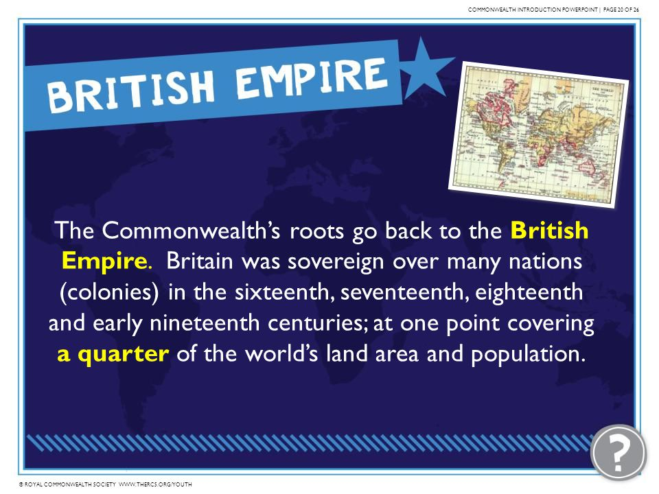 COMMONWEALTH INTRODUCTION POWERPOINT | PAGE 20 OF 26