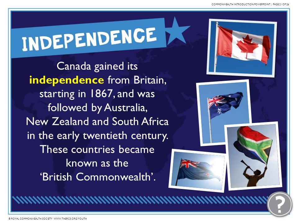 COMMONWEALTH INTRODUCTION POWERPOINT | PAGE 21 OF 26