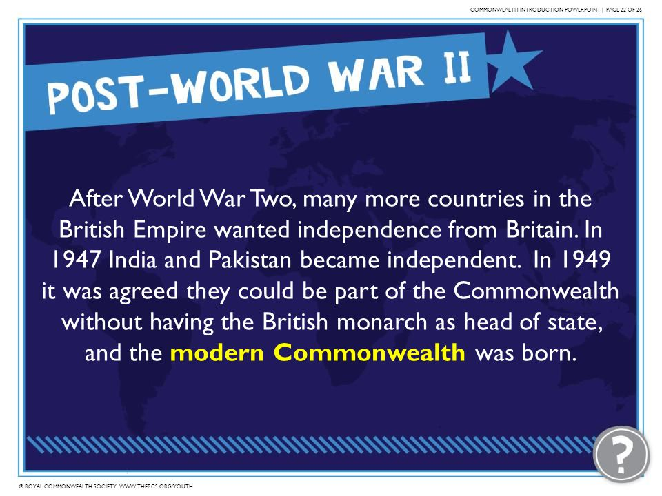 COMMONWEALTH INTRODUCTION POWERPOINT | PAGE 22 OF 26