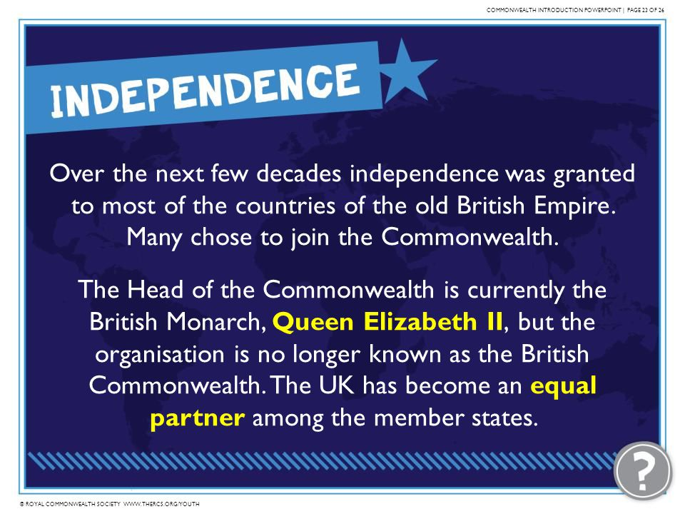 COMMONWEALTH INTRODUCTION POWERPOINT | PAGE 23 OF 26