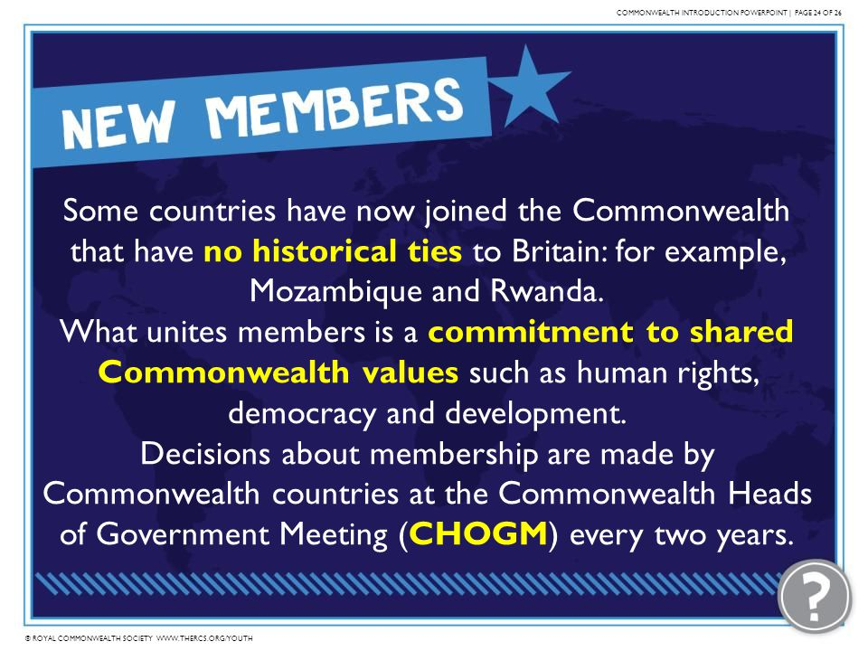 COMMONWEALTH INTRODUCTION POWERPOINT | PAGE 24 OF 26
