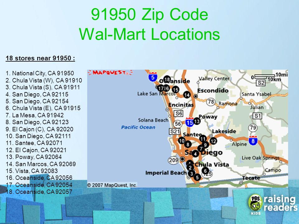 91950 Zip Code Wal-Mart Locations