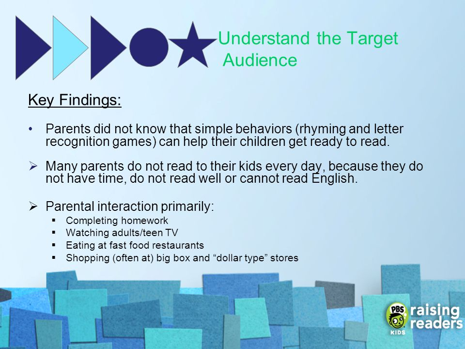 Understand the Target Audience