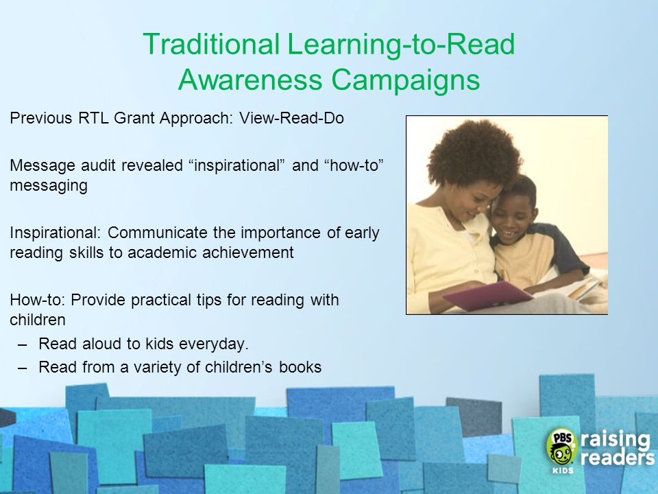 Traditional Learning-to-Read Awareness Campaigns