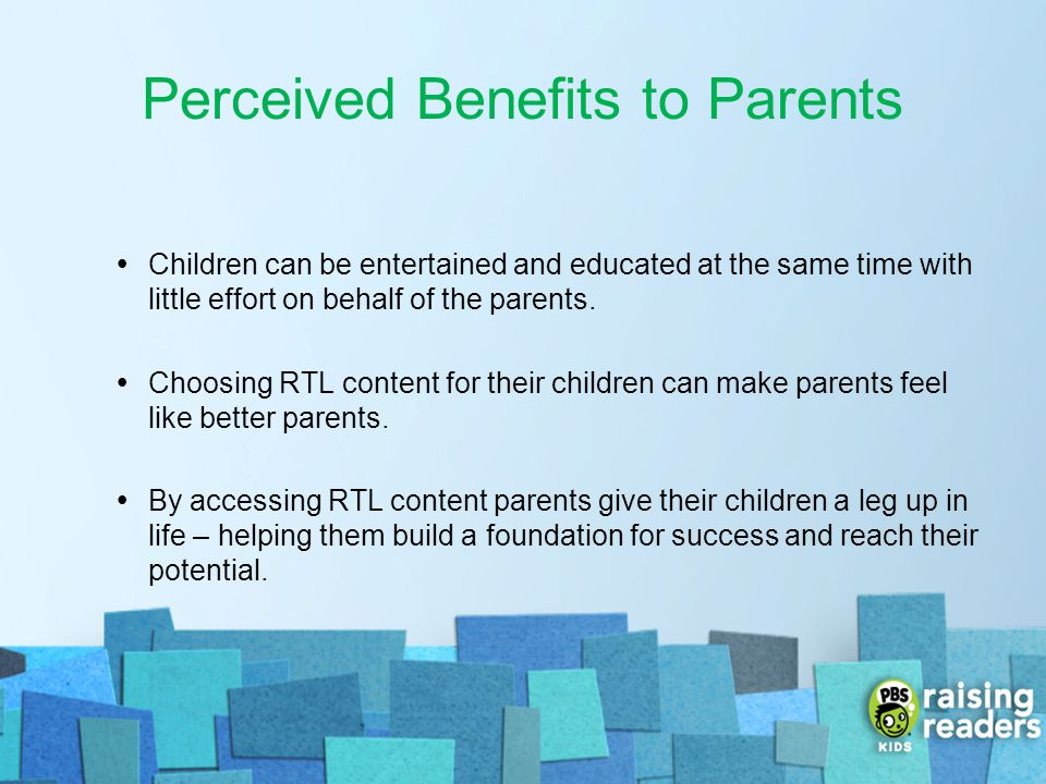 Perceived Benefits to Parents