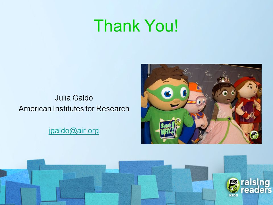 Julia Galdo American Institutes for Research jgaldo@air.org