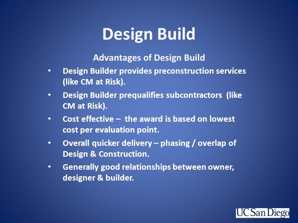 Advantages of Design Build
