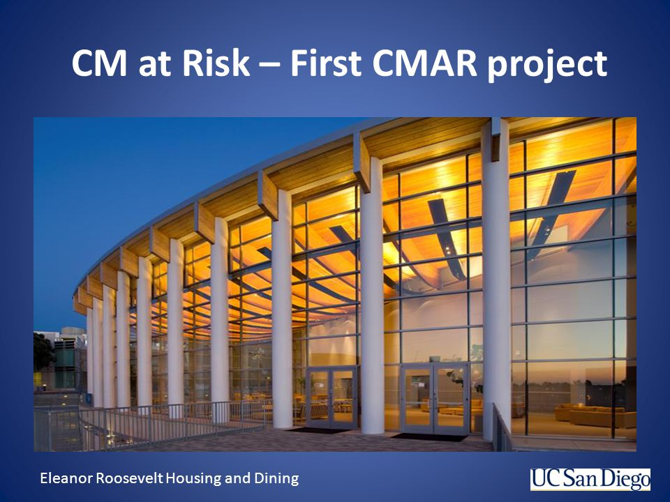 CM at Risk – First CMAR project