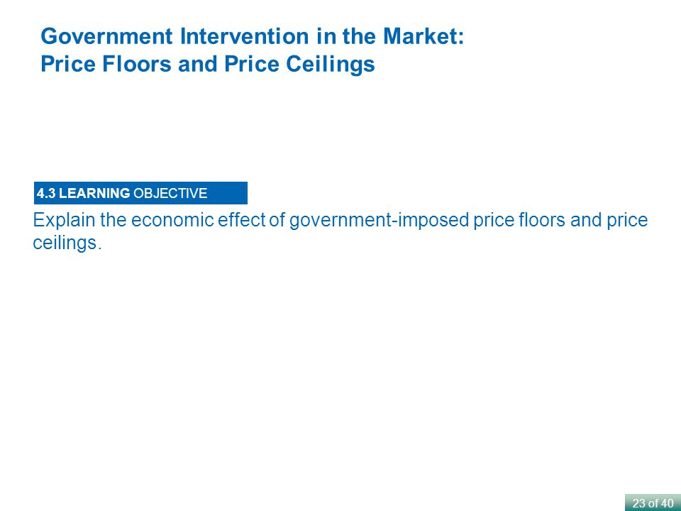 government intervention in the market place This study note provides an overview of the different forms of government intervention in markets.