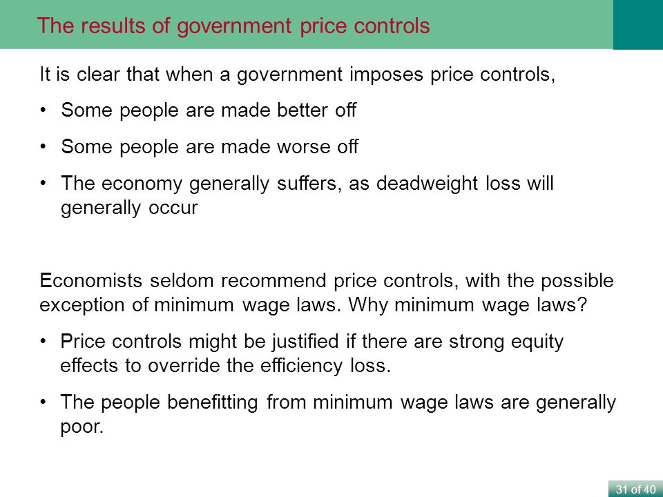 The results of government price controls