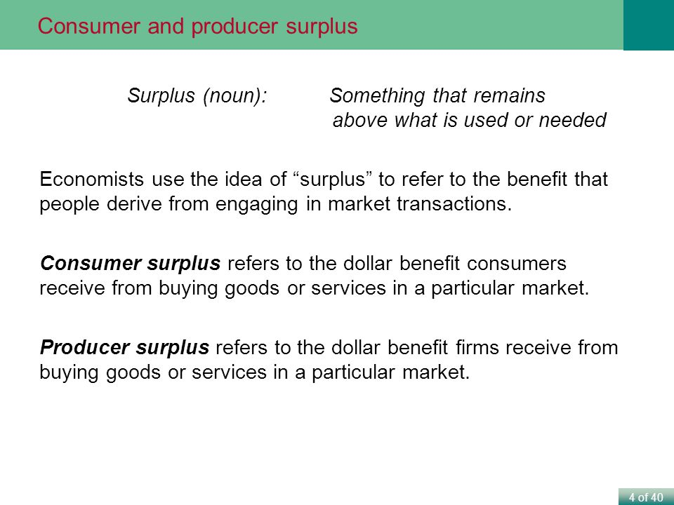 Surplus (noun): Something that remains above what is used or needed