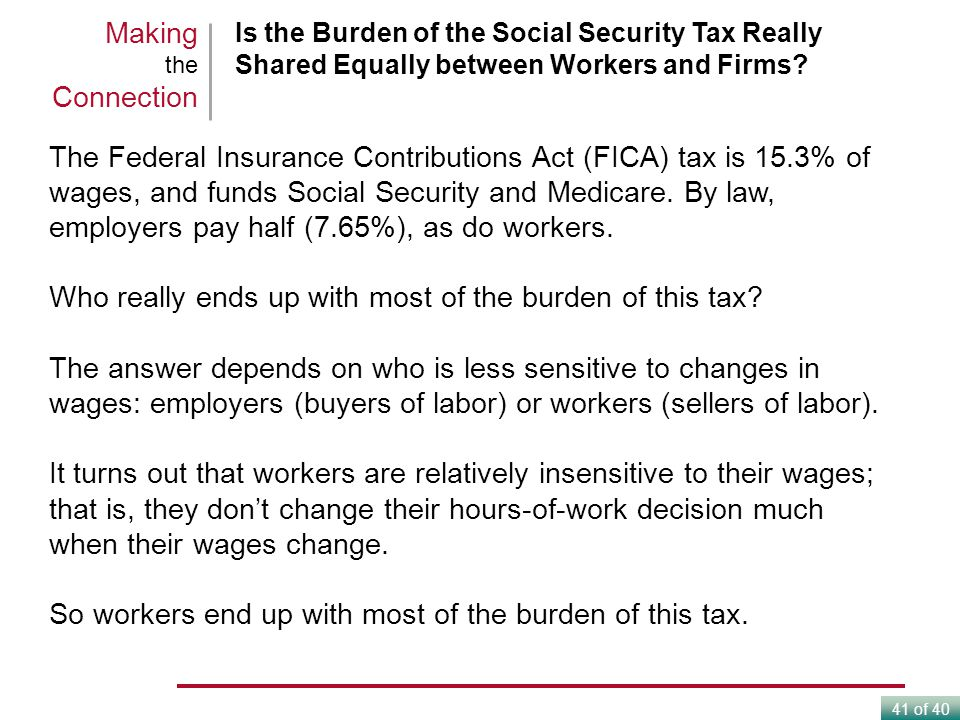 Who really ends up with most of the burden of this tax