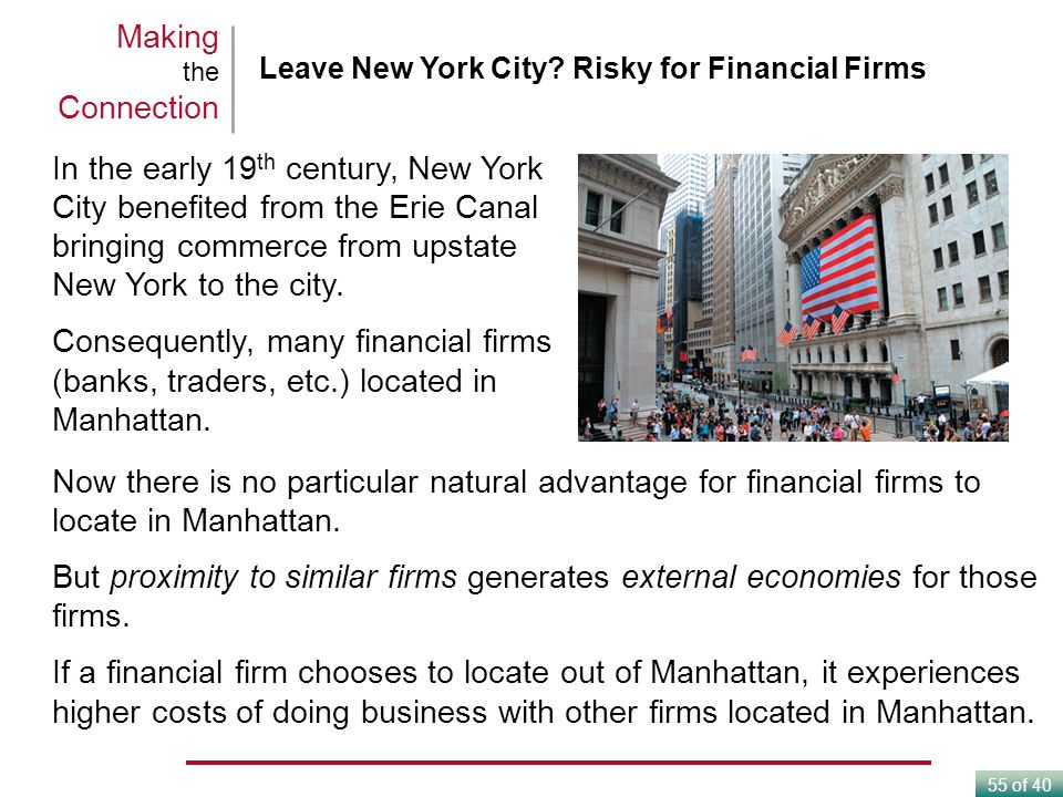 Making the Connection Leave New York City Risky for Financial Firms.