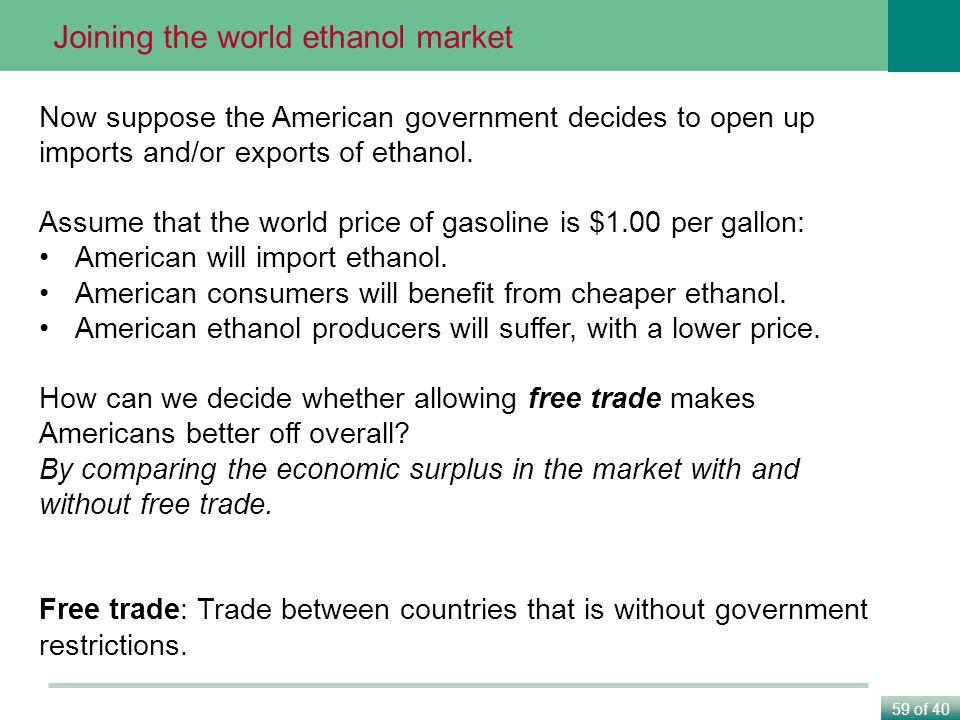 Joining the world ethanol market