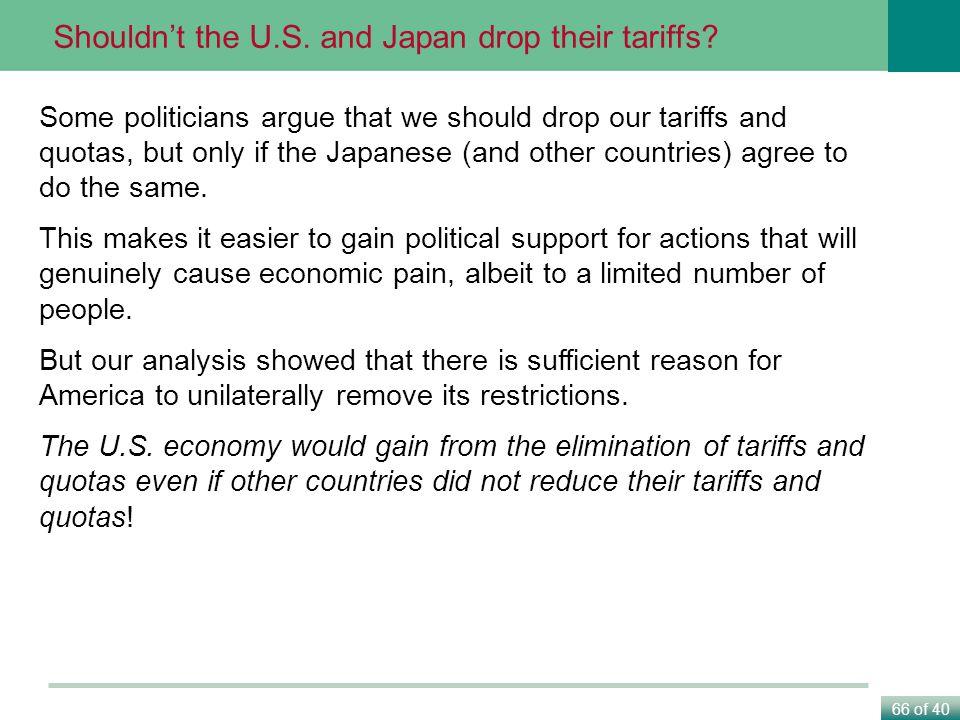 Shouldn't the U.S. and Japan drop their tariffs