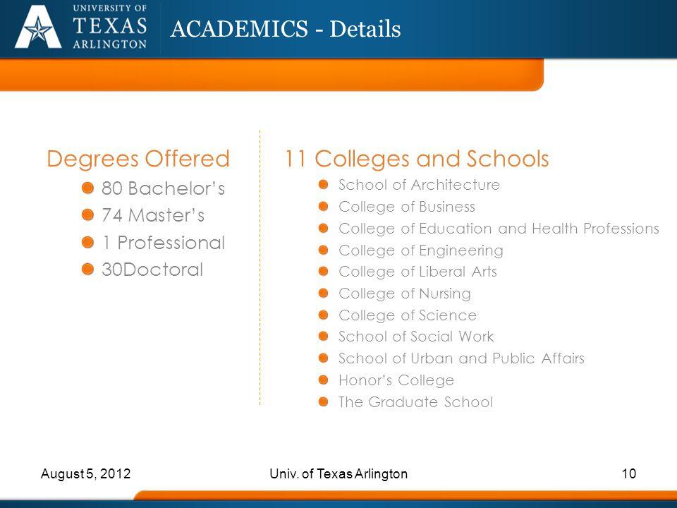 Univ. of Texas Arlington