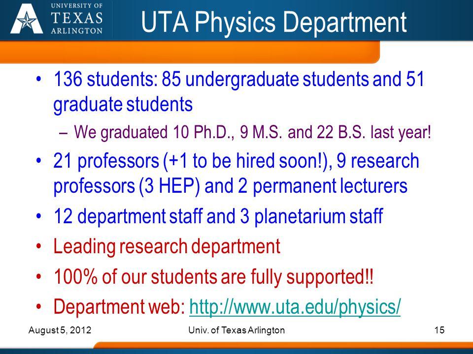 UTA Physics Department